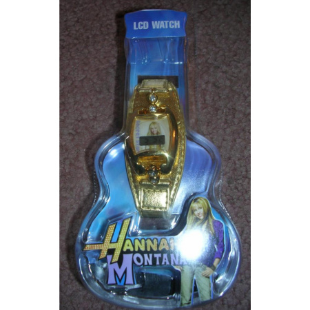 Hannah Montana LCD Watch Wristwatch Gold Band